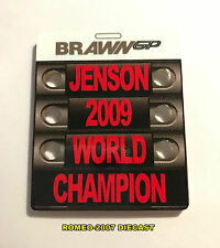 1:18 Pitboard F1 Formula1 Button Brawn GP World Champion 2009 to minichamps NEW