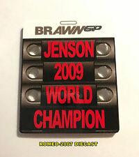1:18 Pitboard F1 Formula1 Button Brawn GP World Champion 2009 to minichamps NEW