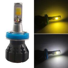 2x 2400LM COB H11 24W Auto Car LED Bulbs 6000K Fog Light Lamp Kit yellow & white