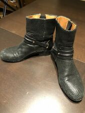 Rachel Roy Echo 2 Leather Quilted Boots Bootie Platform Natural Black Retail$425