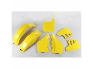 Kit plastique UFO type origine jaune Suzuki RM 125 1989 1990 1991