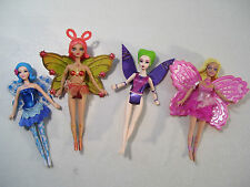 LOT OF 4 BARBIE FAIRYTOPIA MAGIC OF THE RAINBOW MINI DOLLS ELINA AZURA LAVERNA