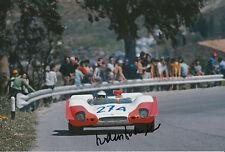 Hans Herrmann Hand Signed 12x8 Photo Porsche 908 Targa Florio 1969 1.