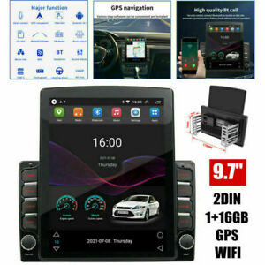 """9.7"""" GPS Navigation For Car Double Din Stereo Radio w/ Bluetooth Player Wifi USB"""