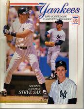 1990 NEW YORK YANKEES SCOREBOOK PROGRAM vs Boston Red Sox Steve Sax