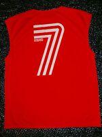 #7 ENGLAND ADDICTIVE Soccer Muscle Training Jersey XL Football Beckham Supporter