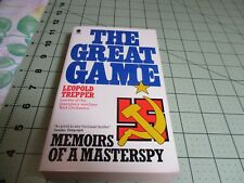 THE GREAT GAME BY LEOPOLD TREPPER    SPHERE UK PB   MEMOIRS OF A MASTERSPY