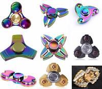 Christmas Gift Rainbow Fidget Spinner Finger Hand Focus Spin Anti Stress Toy UK