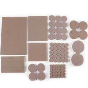 FURNITURE FELT PADS Square/Round Floor Protector Chair/Table Leg Sticky Back