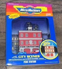 VINTAGE MICRO MACHINES CITY SCENES FIRE STATION MIB NRFB