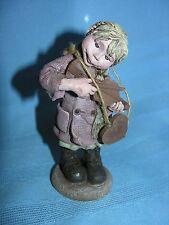 Sarahs Attic Resin Figurine Annie Playing Fiddle #592/1992