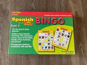 Teacher Created Resources Spanish In A Flash Bingo Set 1 NEW Sealed  Box Ep62345