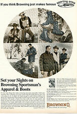 1972 Print Ad of Browning Sportsman Apparel & Boots Hunting Clothes