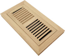 "Homewell 4""x10"" Red Oak Wood Floor Register, Flush Mount Vent With Damper"
