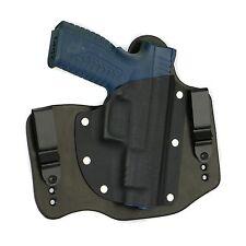 FoxX Leather & Kydex IWB Hybrid Holster Springfield XDM 4.5 9/40 Right Black