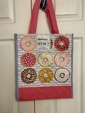 New Marshalls Shopping Bags Donuts Set Of 2 Size Medium