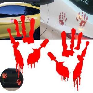 Bloody Hands Decal Sticker Zombie Vinyl Halloween Walking Dead Vampire Horror CZ
