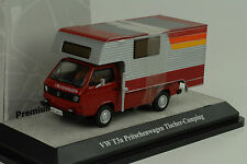 Volkswagen VW T3a Pritsche pick up Tischer Camping red 1:43 Premium classixxs