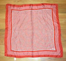 PAOLI  Vintage Red Geometric 100% Acetate Scarf - Made In Japan - 23""