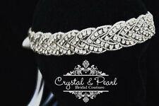 MARILYN Sposa Halo Cerchietto Vintage Cristallo Matrimonio Tiara Strass Hairband