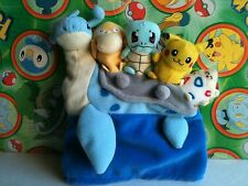Pokemon Plush Lapras Togepi  Pikachu Psyduck Squirtle Tomy doll figure stuffed