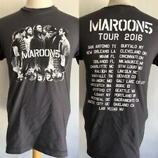 MAROON 5 (2016) Official Adam Levine Concert Tour Dates T-Shirt Size Medium
