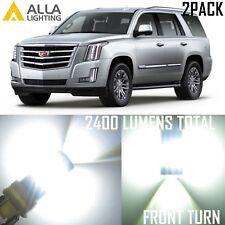 Alla Lighting Front Turn Signal Light White LED Blinker Bulbs for Cadillac ESV
