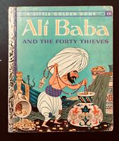"Vintage Little Golden book ALI BABA and Forty Thieves ""A"" 1st Edition"