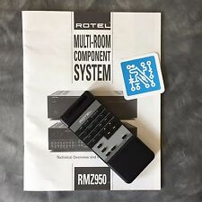 Rotel RR 950  Remote Control and Manual for RMZ-950 Multi-room Controller