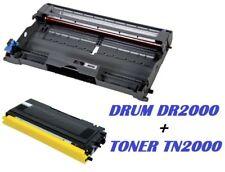 CARTUCCIA PER BROTHER MFC7420 MFC7820 TONER TN2000 + TAMBURO DRUM DR2000