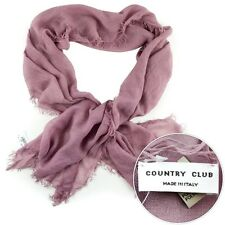 New COUNTRY CLUB Italy Light Pink Scarf Shawl Wrap Cashmere Blend NWT $195