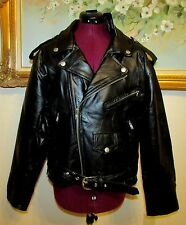 NEW DIAMOND PLATE BLACK BUFFALO LEATHER MOTORCYCLE JACKET SIZE S/ ZIP OUT LINER