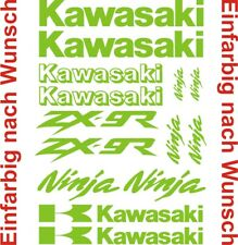 11 Aufkleber Set Kawasaki ZX-9R - Set 4 Tankaufkleber BIKETATTOO Farbauswahl