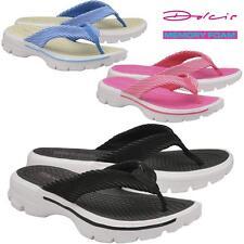 b8899a7a786d Ladies Low Wedge Heel Comfort Go Walking Fit Flip Flops Fitness Toning  Sandals