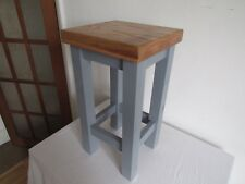 oak and painted side table oak top choice of grey or white painted frame