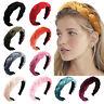 Damen Samt Knoten Breit Plait Haarreif Haarband Stirnband Haarschmuck Kopfband