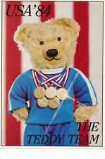 1984 Olympic Games Los Angeles, Teddy Team, original postcard.