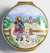 Windsor Park Enamels - Copper Box - Mary Had a Little Lamb. - Made in England