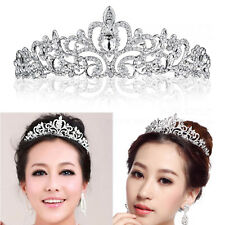Wedding Bridal Diamante Crystal Headband Princess Hair Comb Tiara Bands Crown UK