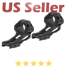 """UTG Leapers ACCU-SYNC 1"""" High Profile 37mm Offset Picatinny Scope Rings - Black"""