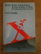 Xerox Copier Manual XC810 XC820 XC830 XC1020 XC1040 XC1044 XC1045 XC1250 XC1255