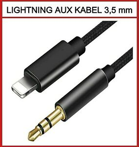 ✅ LIGHTNING AUX Kabel 3,5 mm Klinke Stecker Audio iPhone 7 8 X XS XR 11 12 IPAD