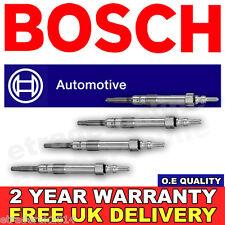 4X Vauxhall INSIGNIA 2.0 CDTi GLOW PLUGS SET 08> GENUINE BOSCH O.E MANUFACTURER