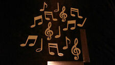Glow In The Dark Musical Notes Music For Bedroom Baby Nursery Kids Room Kitchen