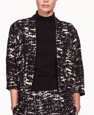 New Womens Kimono Open Cardigan Top Blazer Jacket Black UK Plus Size XXL 22 24