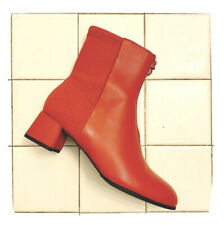 Camper red leather + suede boots   Size 8