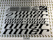 """NINER Stickers Decals Bicycles Bikes BMX MTB Cycles """"DIFFERENT COLORS"""" 59U"""