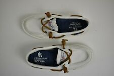 Sperry Top-Sider White America's Cup Navy Boat Shoe 5M