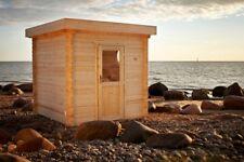 Saunahaus Gartensauna Sauna aus Holz 2.4x2.4M Außensauna 45mm Riga EB45002F28ISO