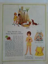 1963 Betsy McCall dog Nosey father vintage toy paper doll original ad